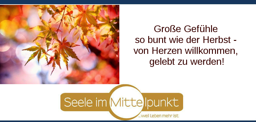Gedankenimpuls mit buntem Herbst